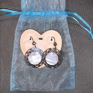 Brighton Waikiki mother of pearl earrings NWT